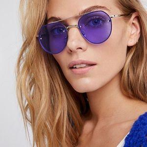Accessories - Violet Oversized Aviator SUNGLASSES Sunnies Purple